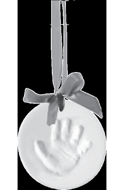 Happy Hands - Medallón con cinta color plata