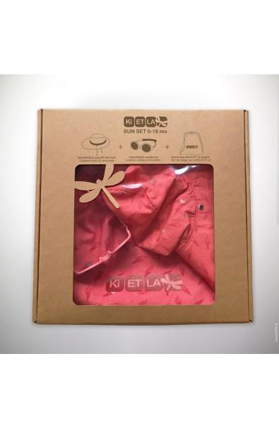 Bolsa de tela con Gorro anti-UV 45/47 cono de helado + Gafa de sol T1Diabola
