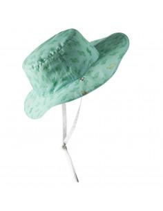 Gorro reversible 100% Anti UV talla 47/49 azul menta con estampado cactus