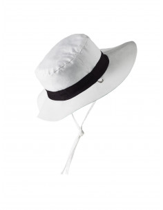 Gorro reversible 100% Anti UV talla 47/49 azul con estampado blanco