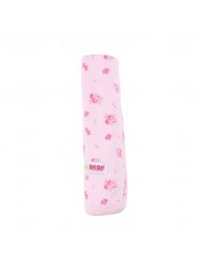 Mantita de algodón para el verano - rosa con flores