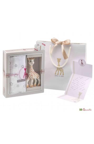 Mi primer set Sophie la girafe + muselina 120x120