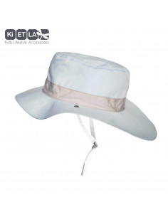 Gorro reversible 100% Anti UV talla 45/47 azul cielo