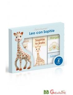 Sophie la girafe. Leo con Sophie