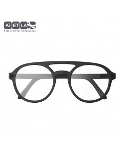 Piloto T5 Negro (filtro de luz azul) (6-9 anos), óculos para ecrã