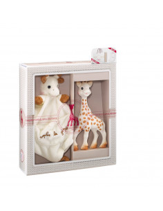 Mi primer set Sophie la girafe + Doudou con agarra chupete