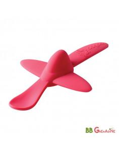 Cuchara de Silicona en forma de Avión Rosa