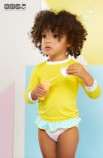 T'Shirt Anti UV 6 meses Amarelo
