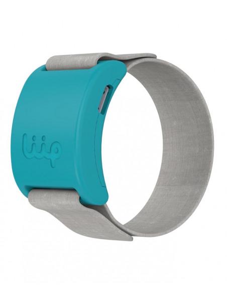 LIIP SMART MONITOR. Pulsera liip de color azul y gris.