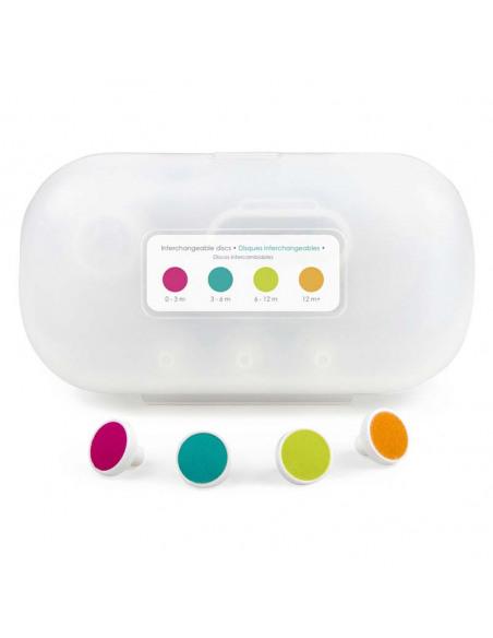 Discos de repuesto de la lima de uñas de colores.