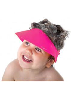 Käp (Rosa) - Visera de baño Silicona. Bebé con visera de baño rosa.
