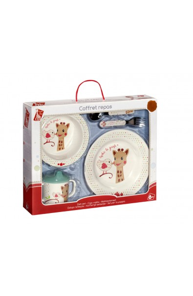 Caja regalo con Set comida melamina Sophie la girafe