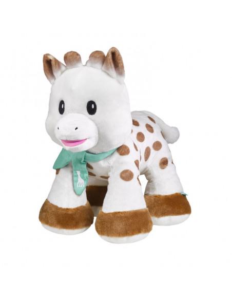 Peluche 35 cm Sophie. Peluche de Sophie la girafe, de perfil.
