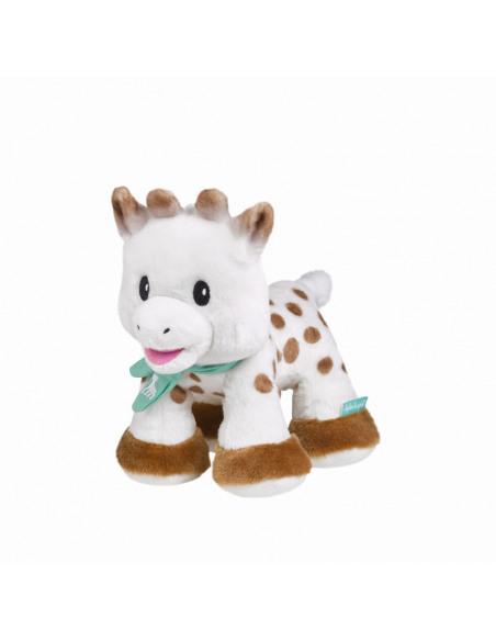 Peluche 20 cm Sophie la girafe. Peluche de la jirafa Sophie de perfil.