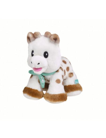 Peluche 14 cm Sophie la girafe. Peluche de la jirafa Sophie de perfil.