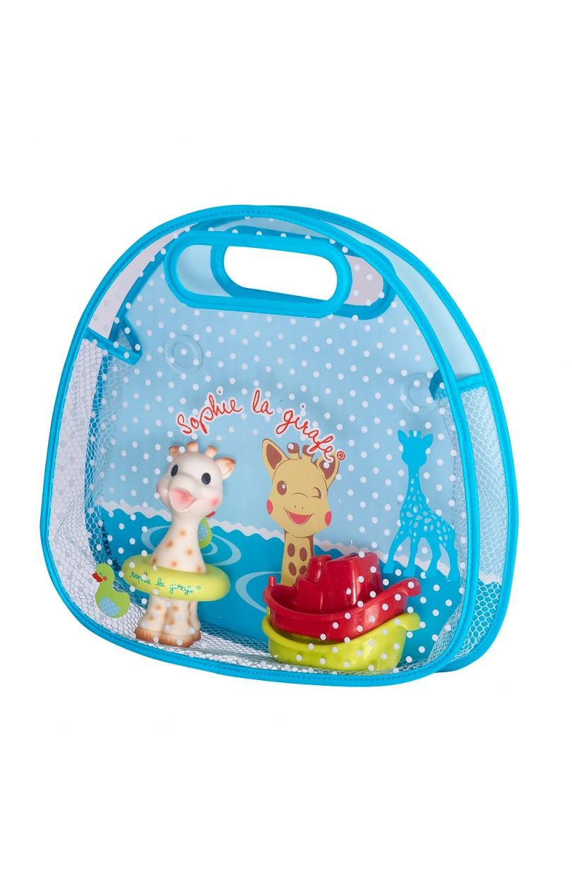 Set Juguetes De Baño Jane:Set Cesta de baño con ventosa y juguetes de baño