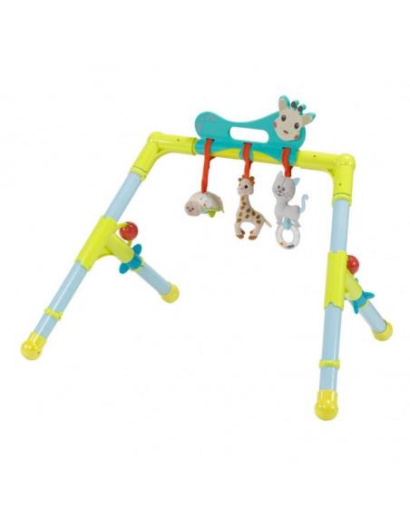 Arco Early Learning Sophie la girafe. Arco de cuatro patas de color azul y amarillo.