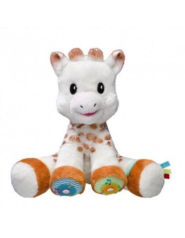 Touch and Play Music Plush. Peluche de la jirafa Sophie de color blanco y marrón.