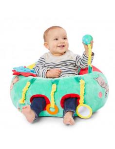 Baby Seat&Play Sophie la girafe. Bebé en el asiento de actividades multicolor con dibujo de Sophie la girafe