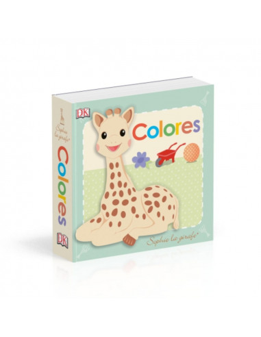 Sophie la girafe. Colores. Portada del libro con la ilustración de Sophie la girafe.