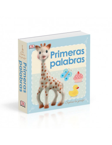 Primeras palabras Sophie La Girafe. Libro con la portada de Sophie la girafe.
