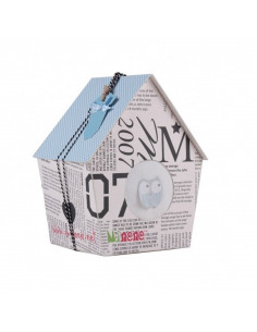 Caja de regalo Casita de color azul