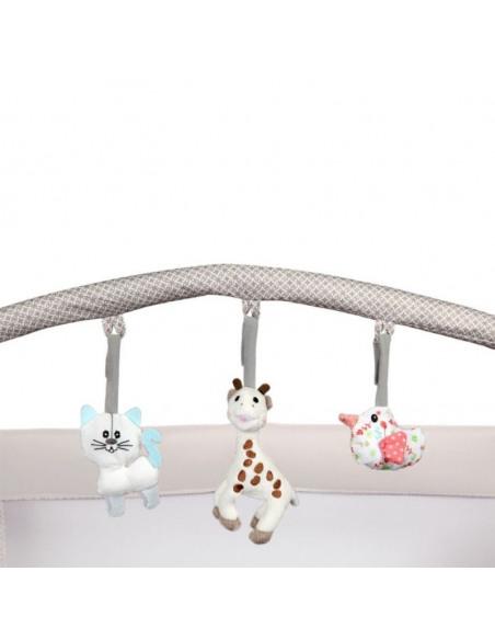 Cuna de viaje Optic Z Sophie la girafe So Chic. Barra de juegos de la cuna.