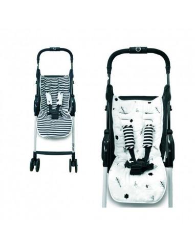 Set de acolchoado reversivel + protetor de cinto para cadeira de passeio Bambú – Bosque