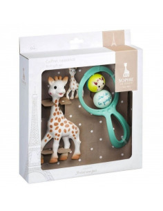 Set de oferta Sophie la Girafe (inclui Sophie la girafe + Roca swing + porta chaves Sophie hevea)