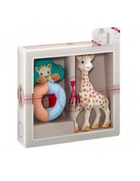 Mi primer set Sophie la girafe + Sonajero Sense & Soft