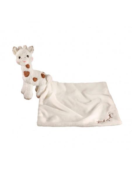 Doudou peluche Sophie Chérie. Doudou y peluche de Sophie la girafe extendido.