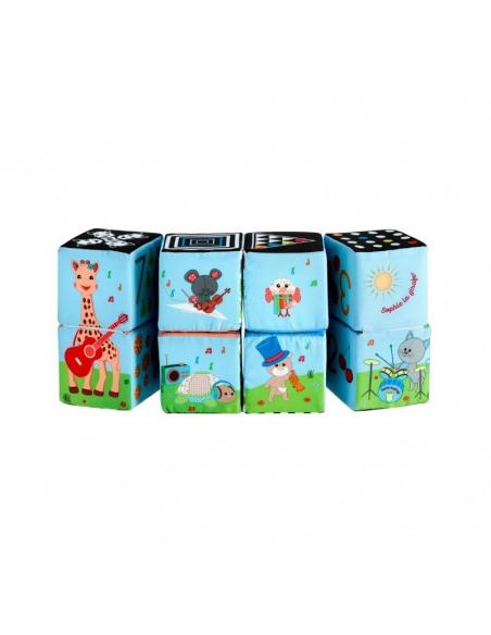 Cubo Puzzle mágico Sophie la girafe. Combinación animales del puzzle.