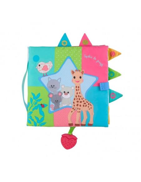 Mi primer libro de los sentidos Gigante Sophie la girafe. Portada libro.