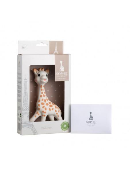 Sophie la girafe con caja regalo - 100% hevea. Caja que contiene el mordedor de la jirafa Sophie.