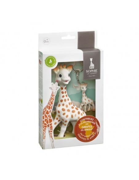 Set de la jirafa Sophie con mordedor y llavero en colaboración con la GCF (Giraffe Conservation Foundation).