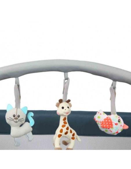 Cuna de viaje Optic Z Sophie la girafe Classic. Barra de juegos de la cuna Sophie la girafe.