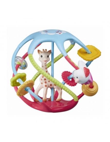 Twistin'ball Sophie la girafe. Pelota de Sophie la girafe con la forma de Sophie dentro.