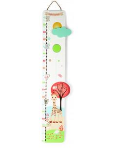 Medidor de altura de madera Sophie la girafe