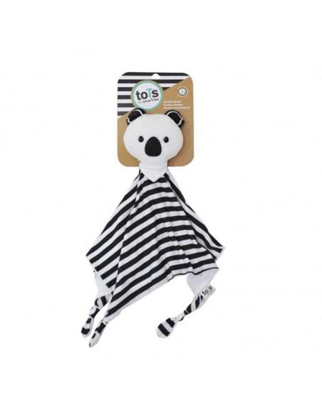 Doudou con forma de Koala blanco y negro