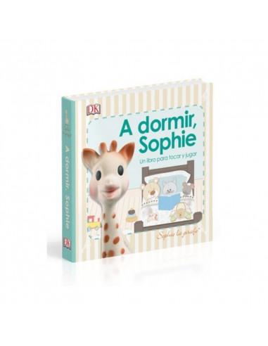 """Portada del libro """"A dormir Sophie"""" con una ilustración de la jirafa Sophie"""