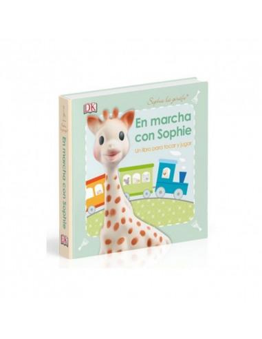 Sophie la girafe. En marcha con Sophie. Portada del libro con la ilustración de Sophie la girafe