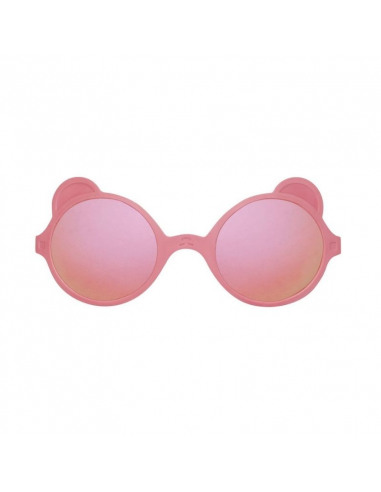 Gafas de sol con forma de osito de color rosa antik pink