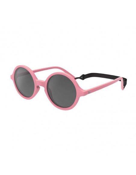 Gafas de sol para niños de color rosa de lado con correa