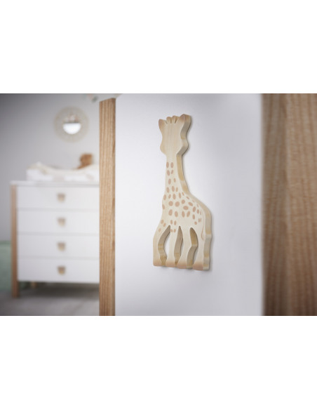 Sophie la girafe grabado de madera