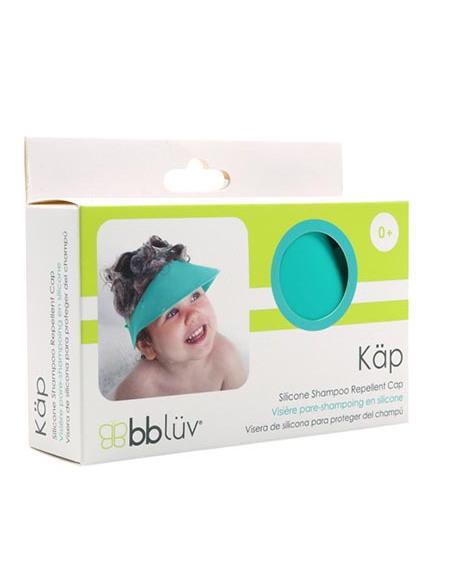 Caja de la visera para bebés de color azul.