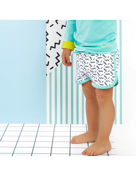 Bebé con Short de baño Zigzag