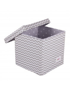 Cubo de tela olas gris