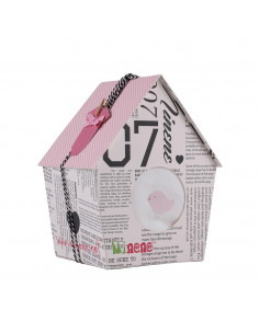 Caja de regalo Casita rosa