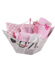 Caja de regalo Barquito de color rosa