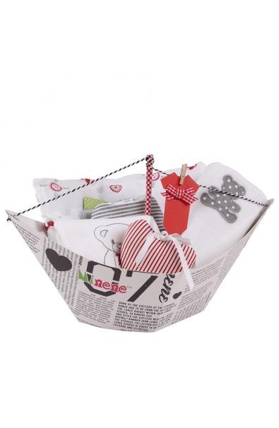 Caja de regalo Barquito de color gris
